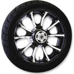 "Coastal Moto Largo 18"" x 5.5"" Rear Wheel Package Black with ABS"