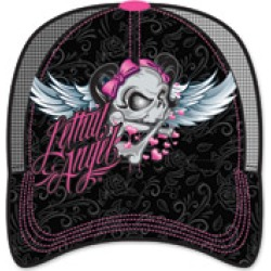 Lethal Angel Women's Girl Skull Black Trucker Hat found on Bargain Bro Philippines from J&P Cycles for $24.99