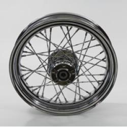"V-Twin Manufacturing Twisted 40 Spoke Chrome Rear Wheel, 16"" x 3.00"""