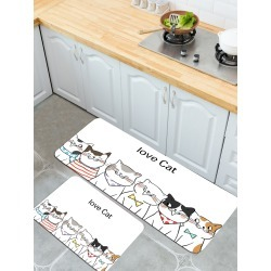 1pc Cartoon Cat Print Floor Mat found on Bargain Bro India from SHEIN for $8.82
