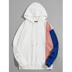 Men Drop Shoulder Colorblock Drawstring Hoodie found on Bargain Bro Philippines from Sheinside for $26.00