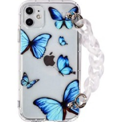 Butterfly Print iPhone Case With Chain Strap found on Bargain Bro from Sheinside for USD $2.28