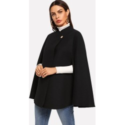 Single Button Cape Coat found on Bargain Bro from SHEIN for USD $17.56