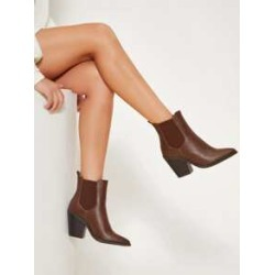 Faux Leather Ankle Chelsea Booties