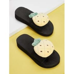 Girls Fruit Decor Flat Sliders found on Bargain Bro India from Sheinside for $7.00