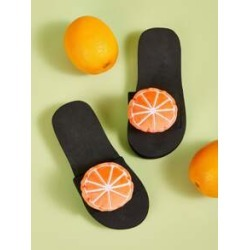 Girls Orange Decor Open Toe Sliders found on Bargain Bro India from Sheinside for $7.00