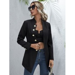 Notched Collar Single Breasted Coat