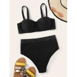Underwire High Waist Bikini Swimsuit