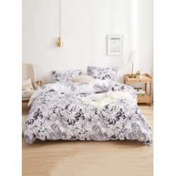 Draft Line Plant Print Sheet Set found on Bargain Bro India from Sheinside for $22.00