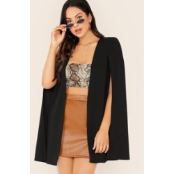 Open Front Cape Blazer found on Bargain Bro Philippines from Sheinside for $22.00