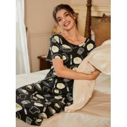 Poached Egg Print Nightdress found on Bargain Bro Philippines from Sheinside for $9.00
