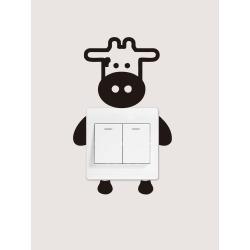 Cow Print Light Switch Sticker