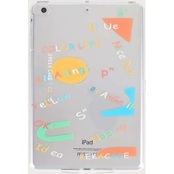 Letter Graphic Clear iPad Case