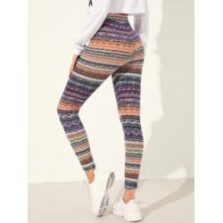 Geo Print Leggings found on MODAPINS from Sheinside for USD $8.00
