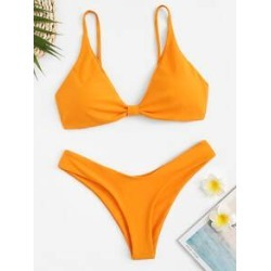 Spaghetti Strap Top With High Cut Bikini found on Bargain Bro Philippines from Sheinside for $12.00