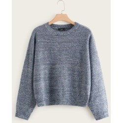 Plus Space Dye Sweater found on Bargain Bro India from Sheinside for $23.00