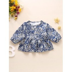 Toddler Girls All Over Floral Print Peplum Blouse found on Bargain Bro from Sheinside for USD $7.60