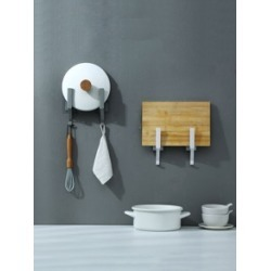2pcs Wall Mounted Pot Lid Storage Rack