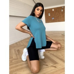 High Low Hem Tee found on Bargain Bro Philippines from SHEIN for $7.32