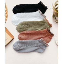 Contrast Trim Ankle Socks 5pairs found on Bargain Bro from SHEIN for USD $7.86