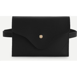 Flap PU Fanny Pack found on Bargain Bro India from SHEIN for $8.51