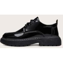 Men Minimalist Lace-up Front Dress Shoes