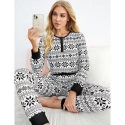 Geo Print Pajama Set