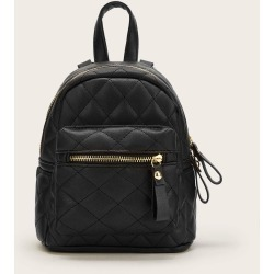 Quilted Zipper Simple Backpack found on Bargain Bro Philippines from SHEIN for $20.72