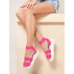 Elastic Double Band Chunky Sole Sandals