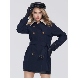 Double Breasted Belted Trench Coat found on Bargain Bro Philippines from SHEIN for $70.62
