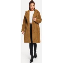 Solid Long Teddy Coat
