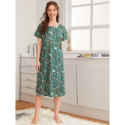 Floral & Animal Print Night Dress found on Bargain Bro India from SHEIN for $8.51