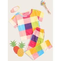Girls Plaid Pajama Set