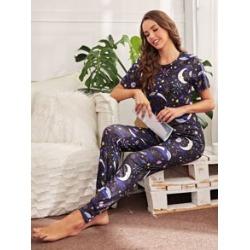 Galaxy Print Pajama Set