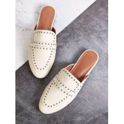 Studded Decor Flat Mules found on Bargain Bro India from Sheinside for $22.00