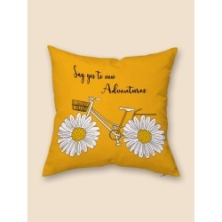 Daisy Print Cushion Cover Without Filler found on Bargain Bro from SHEIN for USD $4.10