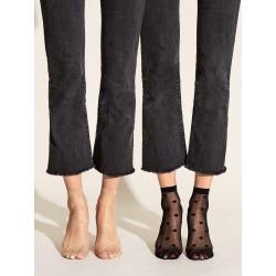 2pairs Polka Dot Mesh Ankle Socks