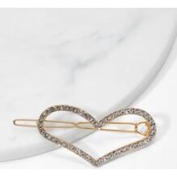 Heart Design Rhinestone Hair Clip