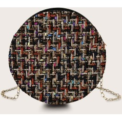 Round Shaped Tweed Chain Bag found on Bargain Bro India from SHEIN for $8.51