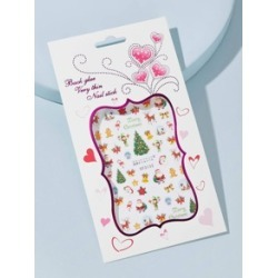 1sheet Christmas Mix Pattern Nail Sticker found on Bargain Bro from Sheinside for $1.00