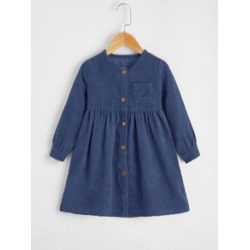 Toddler Girls Corduroy Button Front Dress found on Bargain Bro Philippines from Sheinside for $13.00