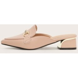 Point Toe Metal Decor Flat Mules found on Bargain Bro India from Sheinside for $22.00