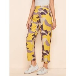 Geo Print Straight Leg Pants found on MODAPINS from Sheinside for USD $14.00