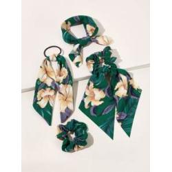 4pcs Flower Pattern Hair Accessories