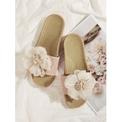 Floral Decor Open Toe Sliders found on Bargain Bro India from Sheinside for $7.00