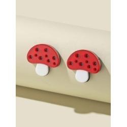 Mushroom Design Stud Earrings found on Bargain Bro from Sheinside for $1.00