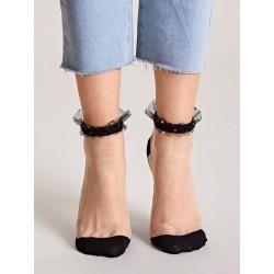 1pair Color Block Mesh Socks