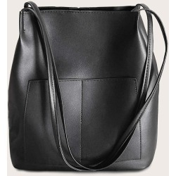 Minimalist Double Handle Bucket Bag found on Bargain Bro India from SHEIN for $8.51