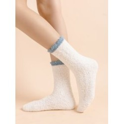 Contrast Trim Ankle Socks found on Bargain Bro from Sheinside for USD $1.14