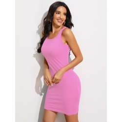 Form Fitted Solid Dress found on Bargain Bro Philippines from SHEIN for $7.32